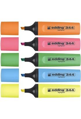 Edding 344 Fosforlu Kalem 5'li Poşet (5 Ayrı Renk)