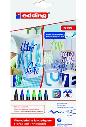 Edding Porselen Kalemi 6'lı Set Soğuk Renkler Ed4200K6099