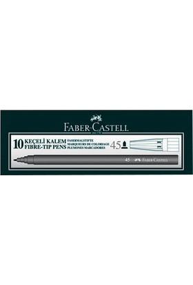 Faber-Castell 45 Keçeli Kalem 10'lu Renk - Siyah