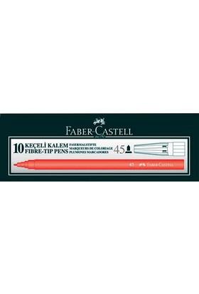 Faber-Castell 45 Keçeli Kalem 10'lu Renk - Kırmızı
