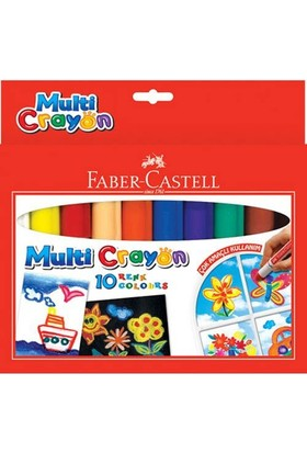 Faber-Castell Multi Crayon Pastel 10 Renk