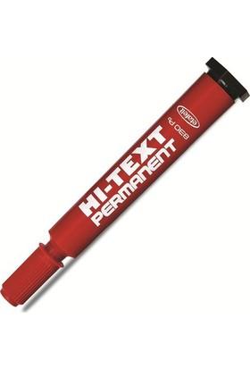 Hi-Text 830B Yuvarlak Uçlu Permanent Koli Kalemi Renk - Kırmızı