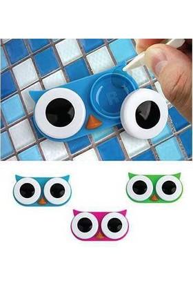 Kikkerland Owl Contact Lens Case - Baykuş Lens Kabı Pembe