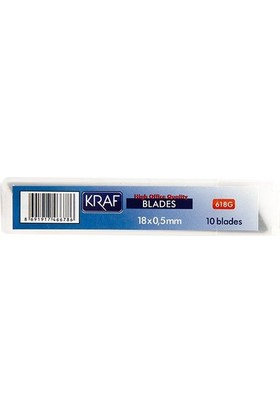 Kraf 618G Maket Bıçağı Yedeği Geniş 10'lu