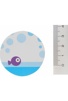 Notix Şekilli Yapışkanlı Mor Balık Desenli Not Kağıtları