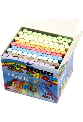 Nova Color Tozsuz Renkli Tebeşir 100'lü