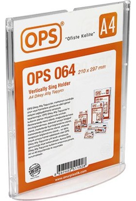 Ops Ops-064 A4 Dikey Afiş Taşıyıcı