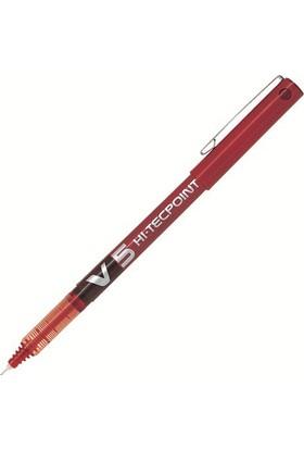Pilot V5 Hi-Tecpoint Renk - Kırmızı