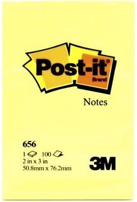 Post-It 656 Not Kağıdı 51 x 76 Mm 100 Yaprak Renk - Sarı