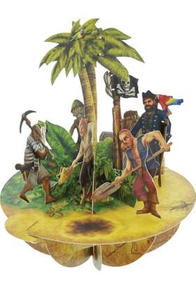 Santoro Gc Pirouettes Hazine Adası 3D Kart Ps028
