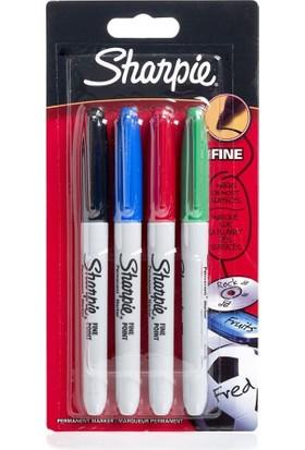 Sharpie Fine Permanent Markör Kalem Standart Renkler 4'lü Paket