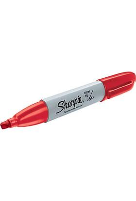 Sharpie Chisel Tip Kesik Uçlu Permanent Markör Kırmızı Kalem