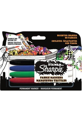 Sharpie Stained Tekstil Markör Kalem 4'lü Paket