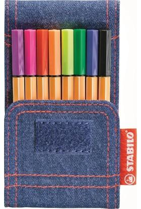 Stabilo Point 88 Mini Jeans İnce Keçe Uçlu Kalem Seti 8'li Set