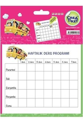 Crea Tiket 1053 Haftalık Ders Programı Okul Etiketi