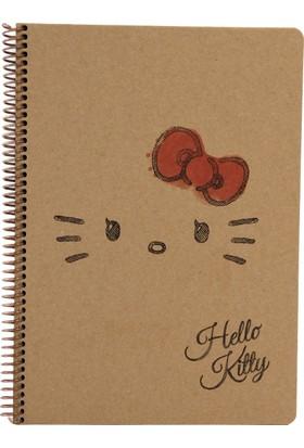 My Note Hello Kitty Siluet Kraft A4 100 Yp Kareli Defter