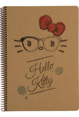 My Note Hello Kitty Gözlüklü Siluet Kraft A4 100 Yp Kareli Defter