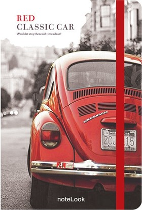 Notelook Red Classic Car A5 Çizgili Defter