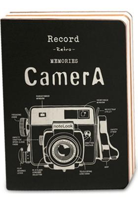 Notelook Bronz Camera 32K 18 x 13 Cm Multi Sarı 128 Yaprak Defter