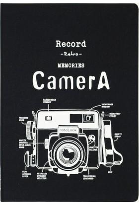 Notelook Beyaz Camera A6 Çizgili 100 Yaprak Defter