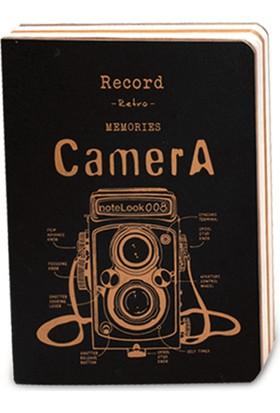 Notelook Beyaz Camera 32K 18 x 13 Cm Multi Beyaz 128 Yaprak Defter