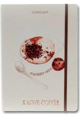 Notelook I Love Chocolate Coffee A5 Çizgili Defter
