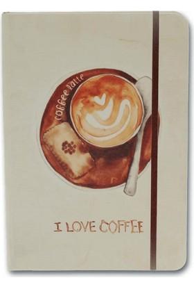 Notelook I Love Latte Coffee A5 Çizgili Defter