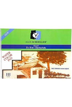 Schoeller Alex Spiralli Resim Defteri 35 x 50Cm 120Gr 15 Yaprak