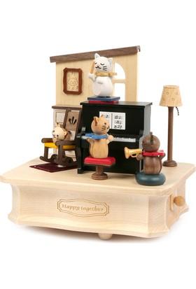 Wooderfullife 1062401 Cat Play Piano