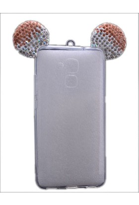Kny Huawei Ascend GT3 Kılıf Micky Renkli Silikon +Cam