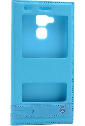 Kny Huawei Honor 5C Kılıf Gizli Mıknatıslı Pencereli +Cam