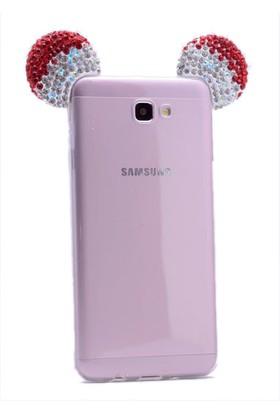 Kny Samsung Galaxy J5 Prime Kılıf Micky Renkli Silikon +cam