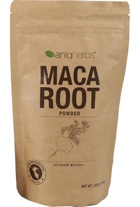 Aniqherbs Maca Root Powder - Maca Kökü Tozu 200 Gr