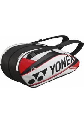Yonex 9526 Pro Raket Çantası (6.Lı)-Beyaz/Kırmızı