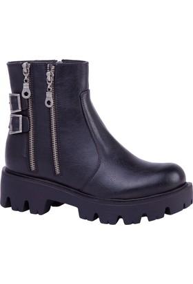 Slazenger Ummi Bot Kadın Ayakkabı Siyah
