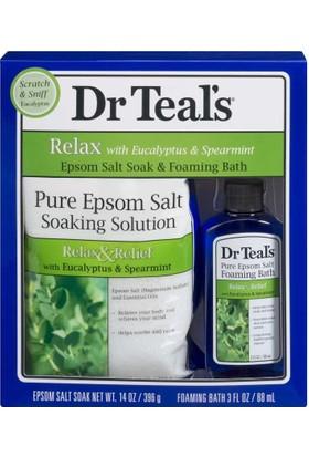Dr Teal's Okaliptüslü Rahatlatıcı Banyo Tuzu Ve Köpüğü Hediye Seti