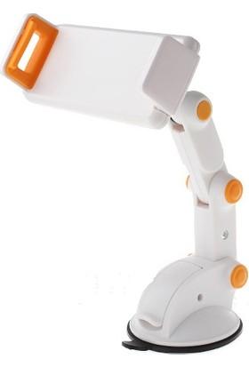 YQ Akrobatik 360 Dönebilen Araç İçi Telefon ve Tablet Tutucu Beyaz
