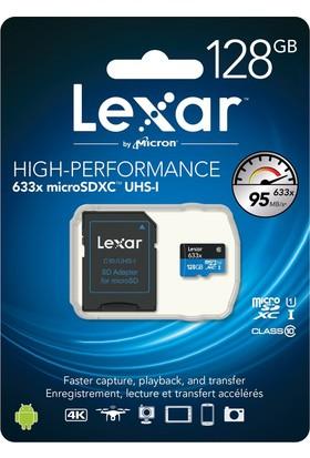 Lexar 128GB MicroSDXC U1 633X 95MB/sn UHS-1 Class10 Hafıza Kartı