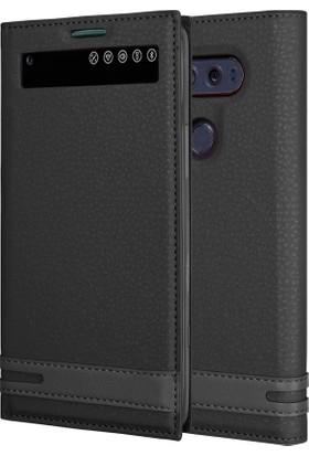 Microsonic LG V20 Kılıf Gizli Mıknatıslı View Delux