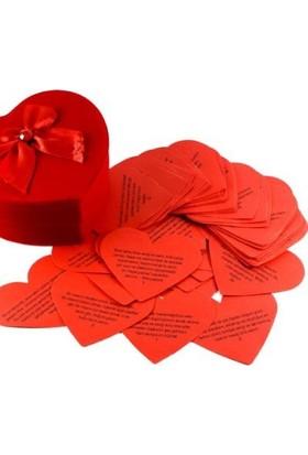 Toptancı Amca Sevgiliye 365 Güne 365 Kalp Cümle Kalp Kutu Süper Hediye
