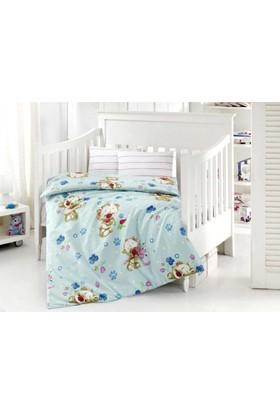 Altınbaşak Bebek Nevresim Takımı Puffy Mavi