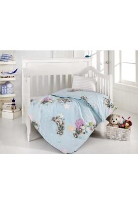 Altınbaşak Bebek Uyku Seti Yumak Mavi