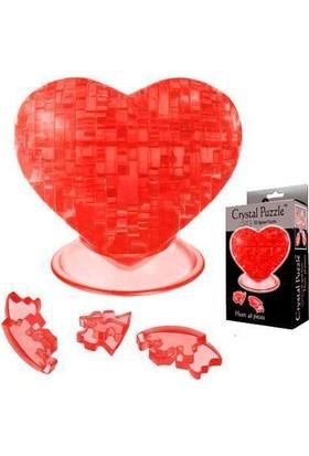Crystal Puzzle Kırmızı Kalp