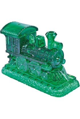 Crystal Puzzle Yeşil Şeffaf Lokomotif