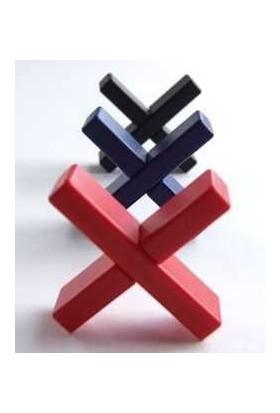 Eureka Puzzle Cross Puzzle Red- (Not Assembled) '' Kırmızı Çarpı
