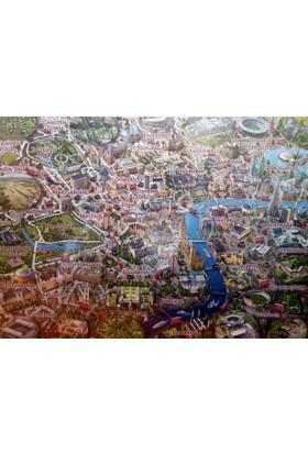 Falcon Map Of London, 1000 Parça Puzzle