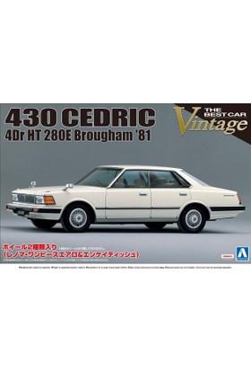 Aoshima Nissan 430 Cedric 4Dr Ht 280E Brougham 1981
