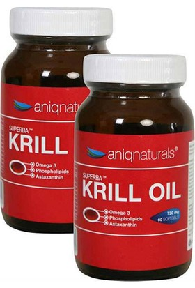Aniqnaturals Superba Krill Oil Yağı Cam Şişe 730 Mg 60 Softgel 2 Adet