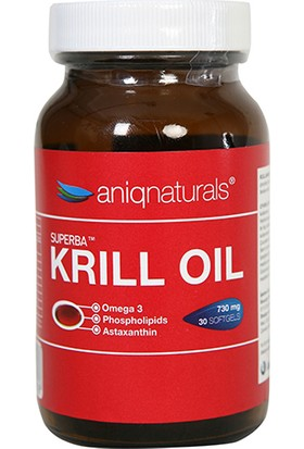 Aniqnaturals Superba Krill Oil Yağı Cam Şişe 730 Mg 30 Softgel