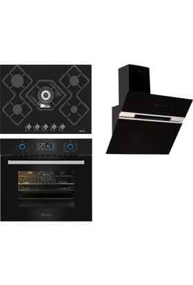 Ferre Black Novara Plus 3'Lü Ankastre Set ( 10004 + KA012 + SMAX 1000)